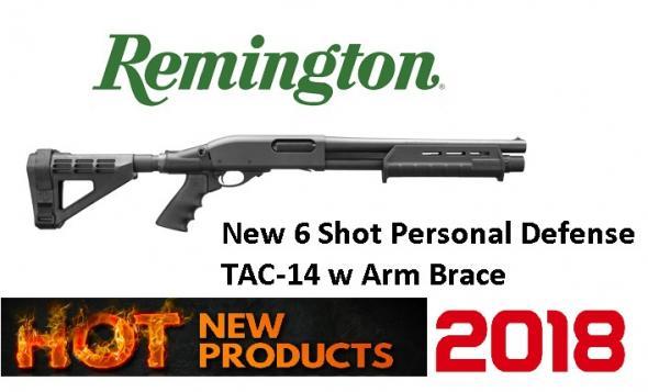 """Remington TAC-14 12 GA-3"""" 14"""" 870 Firearm 6-shot Arm Brace M-lok Black"""