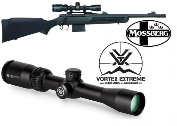 "Super Combo: Mossberg / Vortex MVP Patrol Bolt 308/7.62 NATO w Vortex Optics 16.25"" 10+1 Synthetic Black Stk Blued"