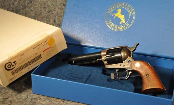 "Colt SAA Single Action Army 1873 .45 Long Colt, 5 1/2"" BBL Blued 4th Gen"
