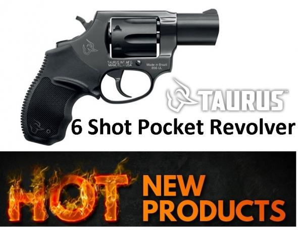 "New 2018!! Taurus 856 6 Shot ""Pocket Revolver"" 38 Special, 2"", Steel Frame, Black Finish, Rubber Grips, 6Rd, Fixed Sights"