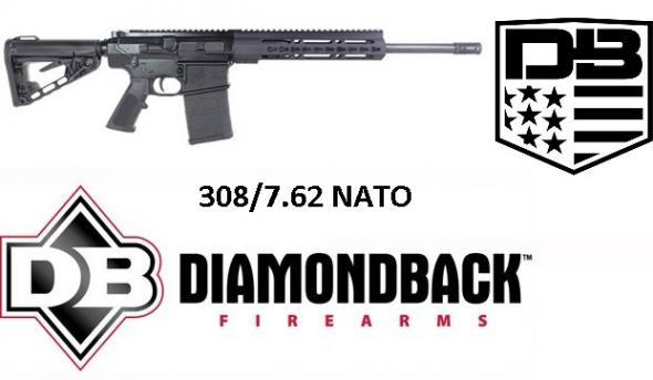 "Diamondback DB10CKMB AR10/AR15 Style DB10 Rifle Semi-Automatic 308 Winchester/7.62 NATO 16"" 20+1 Black Stock"
