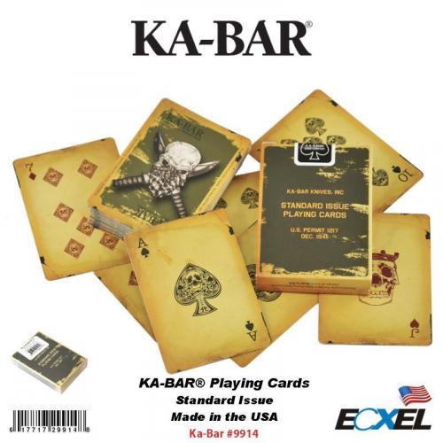 KABAR 9914   KA-BAR PLAYING CARDS
