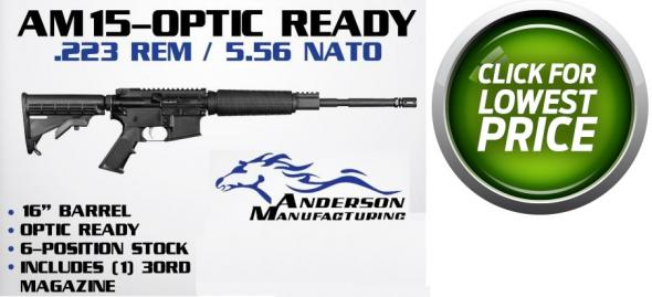 "Anderson Am15 Optic Ready 5.56mm 16"" 1:8 30rd Black"