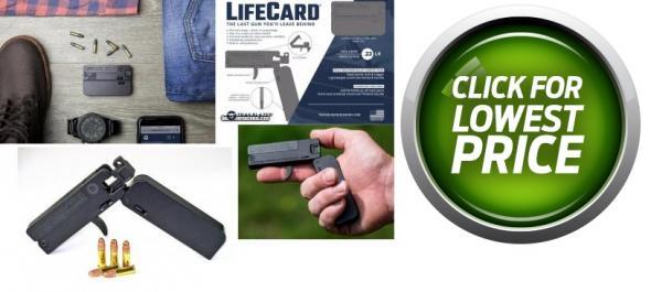 "Trailblazer Firearms Lifecard Pistol, 2.5"" Barrel, 1 Shot, .22 LR"