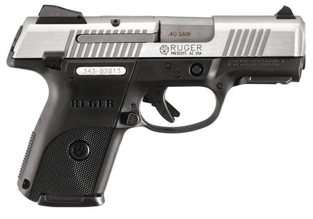 RUGER SR40C Compact .40 Smith & Wesson 3.5 Inch Barrel Brushed Stainless Steel Slide 15 Round