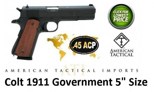 "ATI American Tactical FX45 Military 1911 .45ACP 5"" BBL Colt Government Military Style Sights 7 Round"