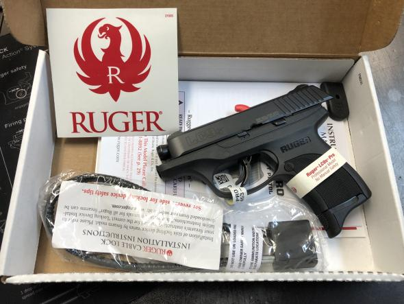 "Ruger, LC9s, Centerfire Pistol, 9MM, 3.1"" Barrel, Blued Finish, Alloy Steel Slide, Nylon Frame, Drift Adjustable 3-Dot Sights, 7Rd, Integrated Trigger ..."