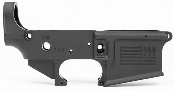 BCI Defense Stripped Lower Receiver w/American Flag, Machined w/M16 Cut