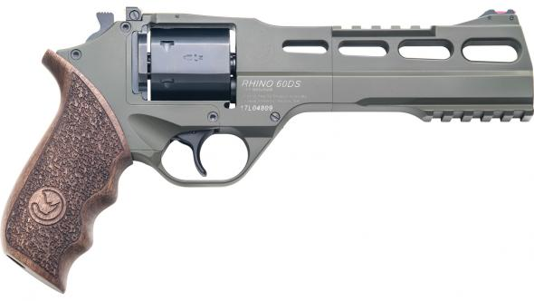 "Chiappa Firearms, Rhino 60 SAR, 357 Magnum, 38 Special, 6"" Barrel, 6 Round,  Olive Drab Finish"