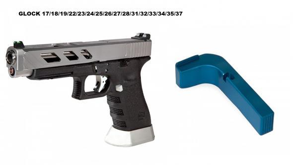 Extended Aluminum Magazine Release Fits Glock Gen1 2 3 Aluminum SMALL Frame