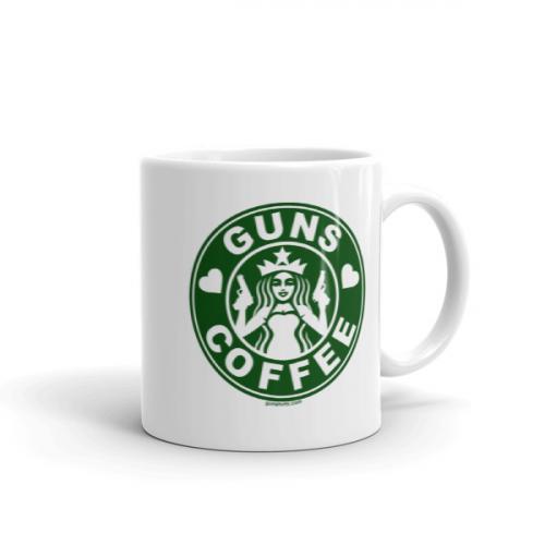 I Guns White Love Standard And Coffee 11 Green Oz Mug vm80wnyNO