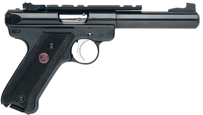 "Ruger Mark III Target 22LR 5.5"" 10+1 Black Syn Grip Blue Steel"
