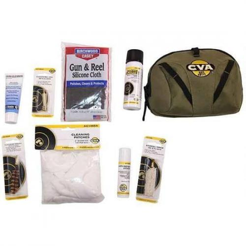 CVA Field Cleaning Soft Kit 8 Piece Muzzleloader Cleaning Kit with Soft  Case AA1722