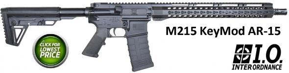 "I.O. Inc. M215-ML15 AR-15 Semi Auto Rifle 5.56 NATO 16"" Barrel 30 Rounds M-LOK Handguard Collapsible Stock Anodized Black Finish"