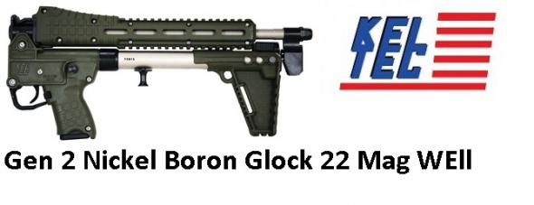 "KEL TEC GEN 2 Nickel Boron OD GREEN SUB-2000 ""GLOCK 22 MAG WELL"" 9MM 16.1 INCH BARREL"