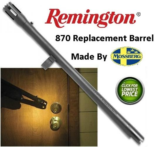 "Extra Barrel Remington 870 12 Gauge Breacher Barrel 18"" Cylinder Bore with 3"" Chamber Made by Mossberg"