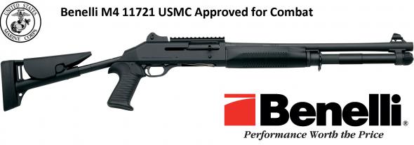 "M4 Tactical Shotgun 12-Gauge 2-3/4"" and 3"" Black Synthetic, Telescoping Stock, Pistol Grip"