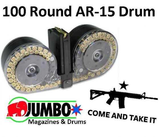 RWB BETA-C Mag Clone AR15/M16 100rd Dual Drum W/Pouch