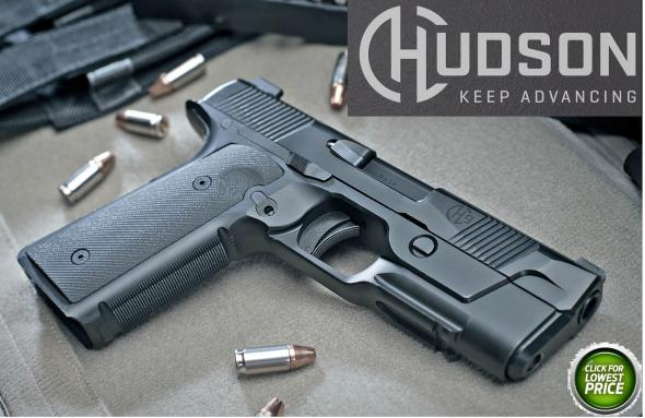 Hudson H-9 9mm 4.28 Inch Barrel Trijicon HD Front Sight G10 VZ Grip Steel Frame/Slide 15 Round