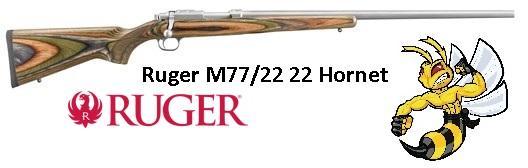 "Ruger 7204 77 Bolt 22 Hornet 24"" Green Mountain Laminate Target Gray Stainless"