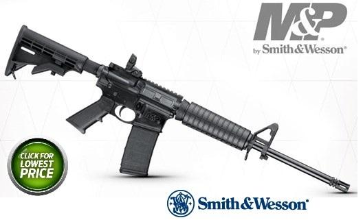 Smith & Wesson M&P 15 Sport II 5.56mm 16 Inch Barrel Matte Black Finish Adjustable Sights Fixed Stock Black 30 Round