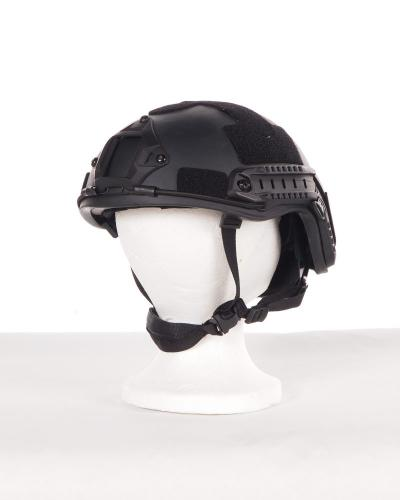 01bd60e92a6a3 Tactical Helmet – w  NVG Hookup   Rails IIIA Black Regular
