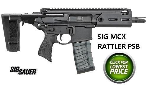 "Sig Sauer, MCX Rattler, Semi-Automatic Pistol, 300 Blackout, 5.5"" Barrel, 3 Position Pistol Brace, M-Lok Handguard, Black Finish, 1-30Rd Magazine"