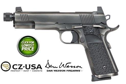 "Dan Wesson, Wraith, Suppressor Ready Full Size 1911, 45 ACP, 5.75"" Threaded Barrel, Stainless Steel Frame, Distressed Finish, G10 Grips, 8Rd, High Night Sights"