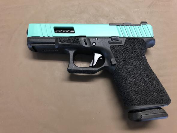 Shadow Systems G-19 9mm Teal Slide with RMR Milled Slide