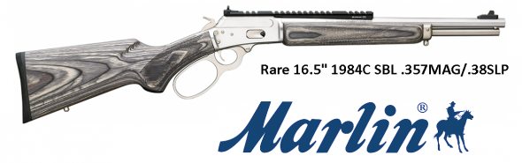 """Marlin 1894C SBL """"Jurassic Mini"""" 357Mag/38SPL 16.5"""" Stainless BigLoop XS Ghost Ring Sight 6 Rounds"""