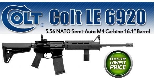 Colt AR15 M4A3 LE6920MPS 5.56x45 NATO/.223 Remington 16.1 Inch Barrel Magpul Slim Line Furniture Black 30 Round