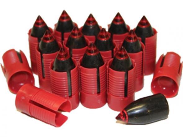 Traditions Smackdown Carnivore Muzzleloading Bullet 50 Caliber Sabot with  45 Caliber 250 Grain Bullet Pack of 15 250 Grain