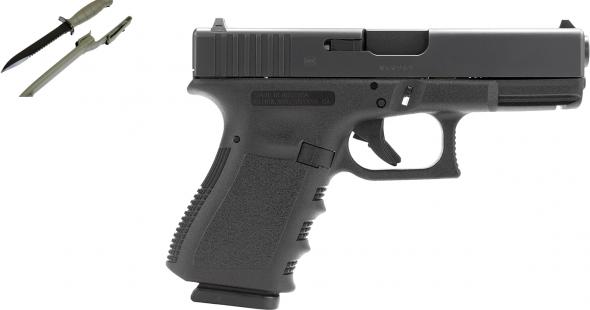 Second Amendment Zone | SALE -- Glock 19 with Glock Field Knife -- SALE
