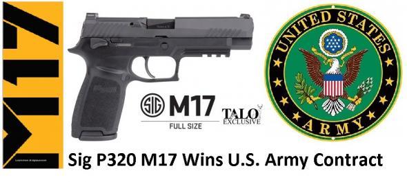 "Sig Sauer, P320 M17 Bravo ""Black Knight"" TALO Limited Edition, 9MM, 4.7"" Barrel, 17+1 Round, Black Nitron Finish"