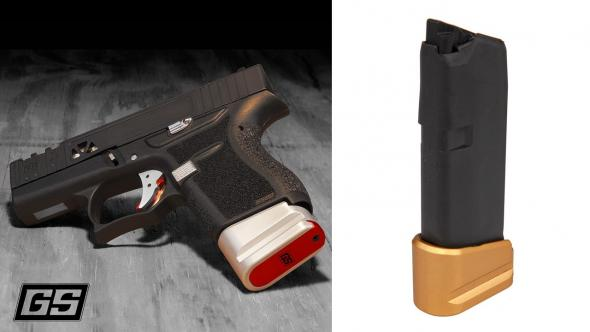 +2 Magazine Gold Extension for Glock 43