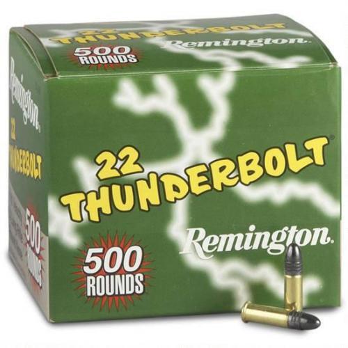 Remington 500 Rounds .22LR Ammunition , Thunderbolt LRN, 40 Grains