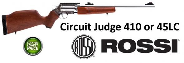 "Rossi Circuit Judge Single/Double 410/45 Long Colt 18.5"" Hardwood Stain"