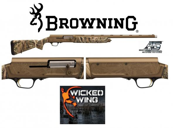 "Browning, A5 Wicked Wing Semi-Automatic 12 Gauge 28"" 3"" Mossy Oak Shadow Grass Blades Synthetic Stk Burnt Bronze Cerakote Aluminum Alloy"