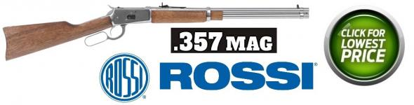 "Rossi, M92, Lever Action, 357 Mag, 20"" Round Barrel, Stainless Finish, Wood Stock, Adjustable Sights, 10Rd"