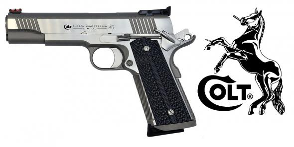 "Colt, Custom Competition Stainless Steel, 45 ACP, 5"" Barrel, 8+1 Round, Brushed Stainless Finish"