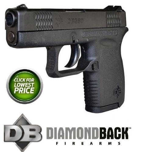 "Diamondback, DB380, 380 ACP, 2.8"" Barrel, Polymer Frame, Blue Finish, Fixed Sights, 6Rd, 1 Magazine 💲💲Cash $209.95💲💲"