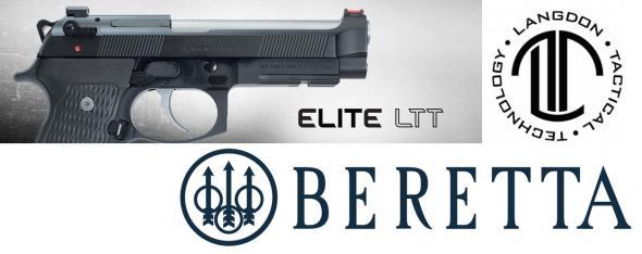 """Beretta """"Custom Langdon Tactical"""" 92G Elite LTT 9mm Luger Single/Double 4.7"""" 15+1 Black Polymer Grip Black Steel Frame Black Slide"""