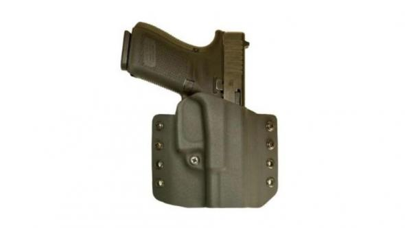 Comp-Tac OWB Concealed Kydex Leather Warrior Holster,Walther PPQ/M2  4in,Right Hand,Black