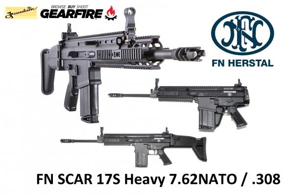 FNH SCAR 17S 7.62 NATO / .308 Winchester 16.25 Inch Barrel Side-Folding Polymer Stock Black Finish Folding Sights Integrated 1913 Accessory Rails 20 Round