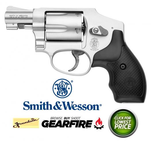 "Smith & Wesson M642 Airweight Internal Hammer 38 Spl 1.87"" 5rd  Syn Grip SS"
