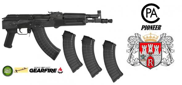 "I.O. Inc. Hellpup Semi-automatic 7.62X39 9"" Steel Black 30Rd Polish"