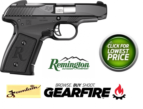 Remington ERP R51 9mm+P 3.4 Inch Barrel Melonite Finish Snag Free Sights 7 Round