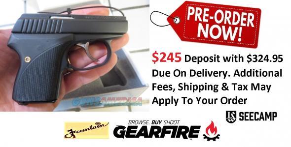 PO Deposit Only: L.W. Custom 2018 Black Seecamp 380 ACP All Steel 380ACP Pocket Pistol
