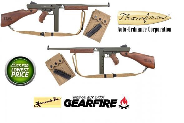 "A/O Thompson ""Tommy Gun""  M1 Tanker, Semi-Automatic, 45 ACP, 16.5"" Barrel, 30+1 Round, Army OD Green Cerakote Finish"
