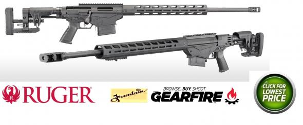 "Ruger, Precision Rifle, Bolt-Action, 6.5 CREEDMOOR, 24"" Cold Hammer Forged Medium Contour Threaded Barrel, Anodized Finish, Ruger Precision Stock and M-LOK 15"" Handguard, 10Rd"